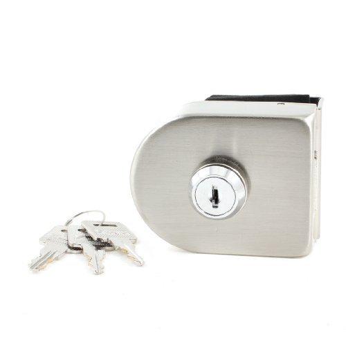 sourcingmap® Silberfarbenes Metall im Haushalt Keyed Lock fuer 13 mm Glastür Scharnier Unterschrank