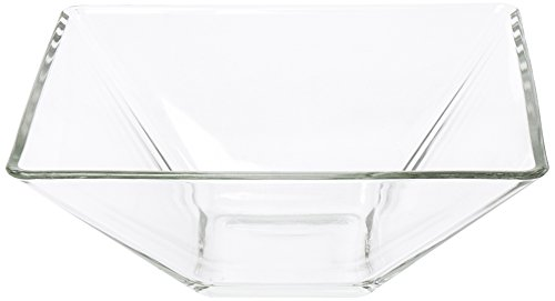 Excelsa Kyoto Coupe Multi-usages Carré, Verre, Transparent, 20 x 20 x 8 cm