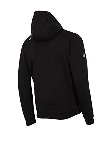 4F Herren Kapuzenpullover Comfort Pullover schwarz