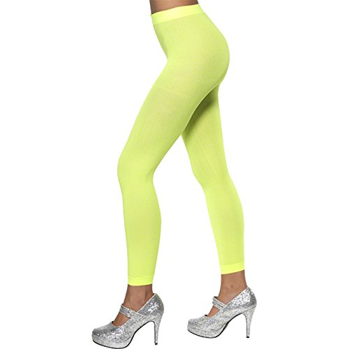 Smiffy's Opaque Footless Tights Neon - Green