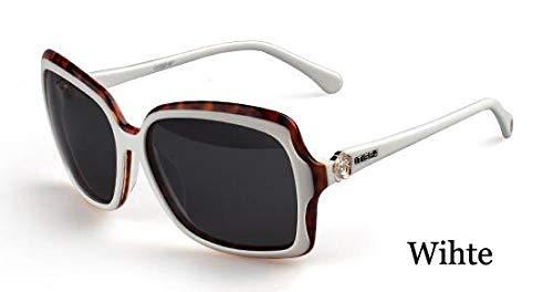 LKVNHP Verwendet für eine Lange Zeit Nicht Deformation Eyewear hohe Qualität Acetae Frame weiße Sonnenbrille Frauen polarisierte mit BoxWPGJ050 weiß