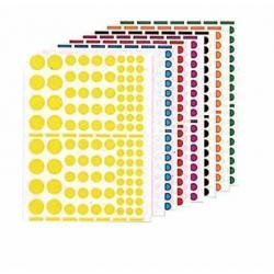 Agipa Playshapes labels. Circles. 1040 pcs Multicolor 1040pieza(s) - Etiqueta autoadhesiva (Multicolor, various, 1040 pieza(s), 10 hojas)