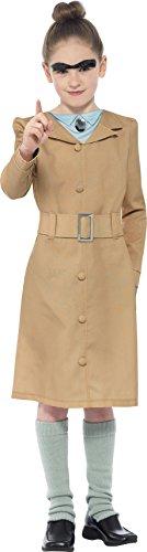Smiffy's 27147M - Roald Dahl Fräulein Knüppelkuh Kostüm mit Kleid Beinlinge und Augenbrauen, beige (Roald Dahl Tag Kostüm Ideen)