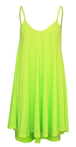 Xclusive Collection Women's Plain Beach Dress 20 / 22 Neon Lime