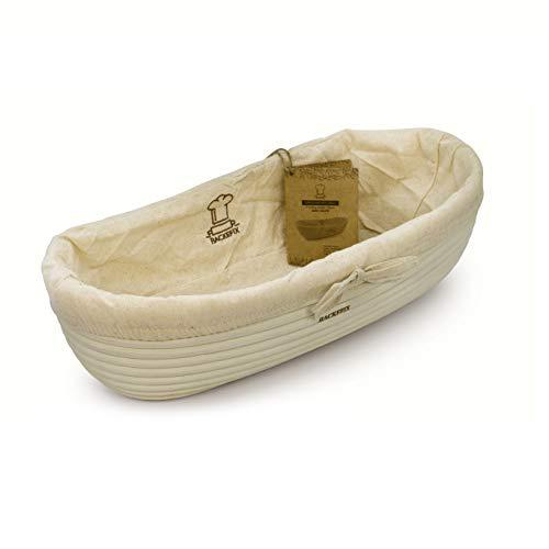 Backefix großer Gärkorb ovales Gärkörbchen für Brot - ovales Gärkörbchen nachhaltig längliche Brotform 36cm