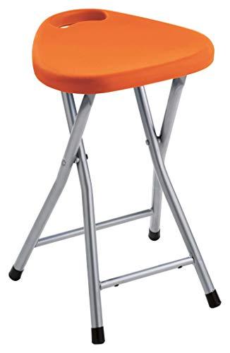 Gedy CO75 Taburete Plegable, Resinas termoplásticas, Naranja, 46,5x30x29,3 cm