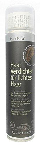 Hairfor2 Haarverdichtungsspray mittelbraun, 1er Pack (1 x 400 g)