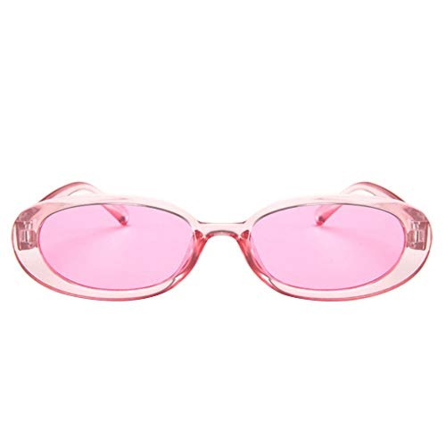CHOULI Fashion oval Frame Sunglasses Trend Sunglasses small Frame Glasses Sunglasses pink