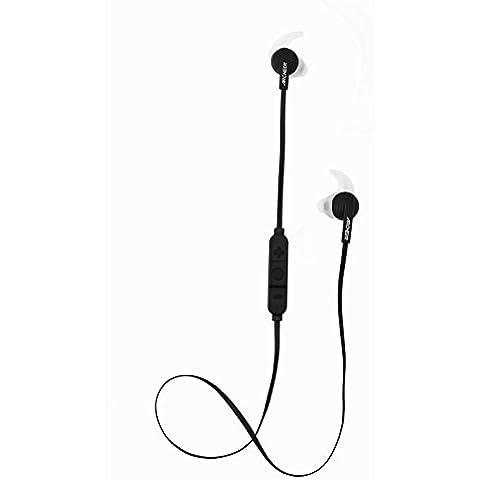 Archeer Auricolari Sportivi Wireless Stereo In-Ear con tecnologia di riduzione del rumore per jogging o altre attività in movimento, compatibile con tutti i dispositivi Bluetooth (iPhone, iPad, Android, Samsung, etc.) Nero