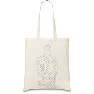 Leonardo Dicaprio Custom Printed Tote Bag| 100% Soft Cotton| Natural Color & Eco-Friendly| Unique, Re-Usable & Stylish Handbag For Every Day Use| Custom Shoulder Bags By Design Things