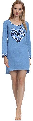 Merry Style Chemise de Nuit Femme 1185 Bleu-1A