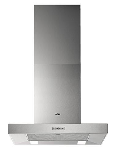 AEG DBB4650M Backstein-Kamin-Dunstabzugshaube / Abluft oder Umluft / 60cm / Edelstahl / max. 400 m³/h / min. 66 – max. 75 dB(A) / B / Kurzhubtasten