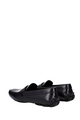 2DD001NEROVITELLO Prada Mocassins Homme Cuir Noir Noir