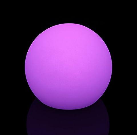 Edle 40 cm LED Leuchtkugel Gartenkugel multicolor RGB mit Farbwechsel und Fernbedienung aufladbar wasserfest Innen Außen IP65 Leuchtball Kugelleuchte