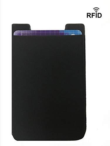 ZhaoCo Porta Tarjetas Móvil con Bloqueo RFID
