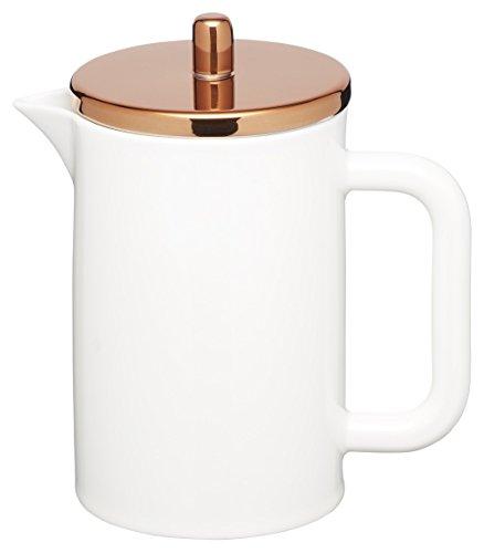Kitchen Craft Le'Xpress Kaffeekanne für 6 Tassen, aus Knochenporzellan, Deckel mit Kupfereffekt,...
