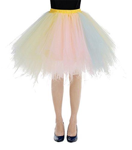 bbonlinedress Kurz Retro Petticoat Rock Ballett Blase 50er Tutu Unterrock Champagne-Light Pink ()