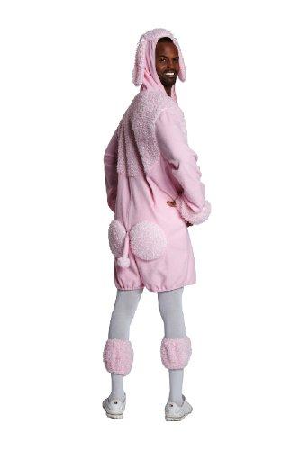 Karneval Erwachsenen Kostüm Pudel rosa Overall als Tier Größe S