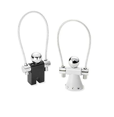 Troika, Porte-clés Mixte Multicolore Noir/blanc 11 cm