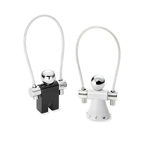 troika-keyrings-11-cm-black-white