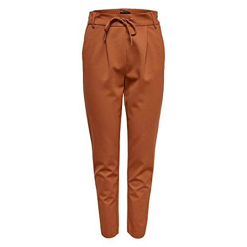 ONLY NOS Damen ONLPOPTRASH Easy Colour Pant PNT NOOS Hose, per Pack Braun (Ginger Bread Ginger Bread), W/L32(Herstellergröße: S) -