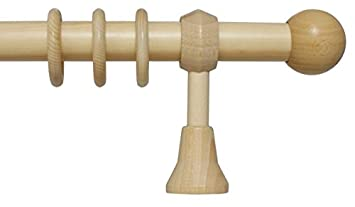 Komplett Neu Amazon.de: Holz Gardinenstange mit Endstück Kugel mit 28 mm  MQ28