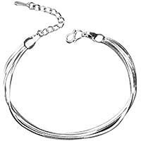 Hosaire Bracelet Femmes Elégant Lisses trois chaînes Réglable Chaîne Bijoux romantique Bracelet Cadeau de l'amour