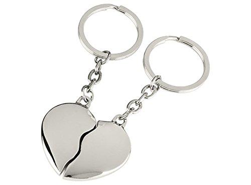 Ten portachiavi cuore spezzato - cod. el7123 - lun.9,5 cm - lar.4,5 cm - alt.1 cm by varotto & co.