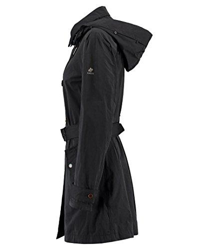 Khujo Damen Kurzmantel Trenchcoat Übergangsmantel Black 200