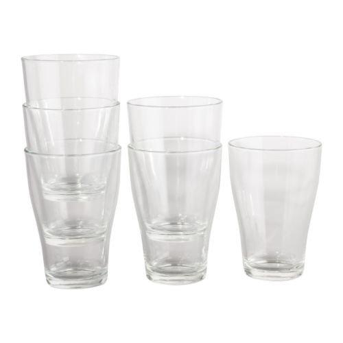 IKEA BEHÄNDIG Gläser aus Klarglas; (30cl); stapelbar; 6 Stück