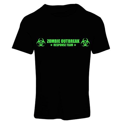 lepni.me Maglietta Donna Zombie Outbreak Response Team (XX-Large Nero Verde)