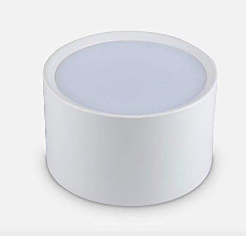 Aufbauleuchte Deckenleuchte Aufputz mit 7W LED Fassung 230V [ alu-silber, schwenkbar] Deckenleuchte Würfelleuchte CUBE Kronleuchter aus Aluminium (Weiße 6000K)