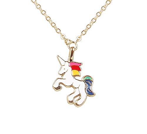 Arendelle White Unicorn Charm Pendant Set [APD032]
