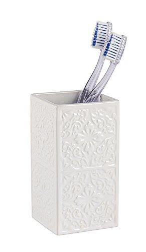 Wenko 22649100 Gobelet Cordoba, Blanc, Céramique, 6,5 x 12 x 6,5 cm