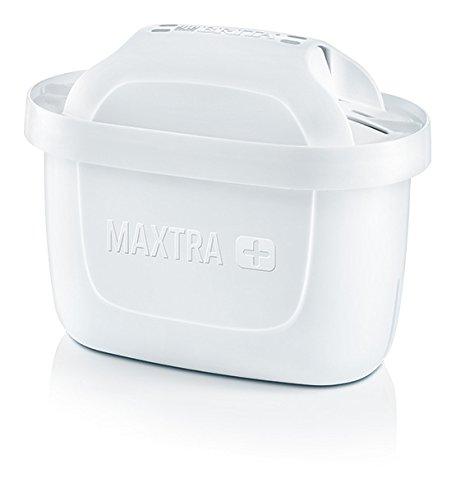 Brita 1023118Maxtra Plus Pack 2-Cartuccia filtraggio acqua, esterno-Plastica, interne-carbone attivo, scambio ionico, bianco, 10x 5,5x 7cm