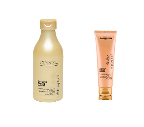L'Oreal Expert Absolut Repair Lipidium Set of 2 (Shampoo+Leave in Conditioner) with Ayur Product in Combo