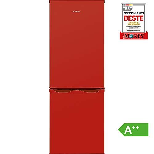 Bomann KG 320.1 Kühl-Gefrier-Kombination (Gefrierteil unten) / A++ / 143 cm / 160 kWh/Jahr / 122 L Kühlteil / 43 Gefrierteil/Abtauautomatik/Rot