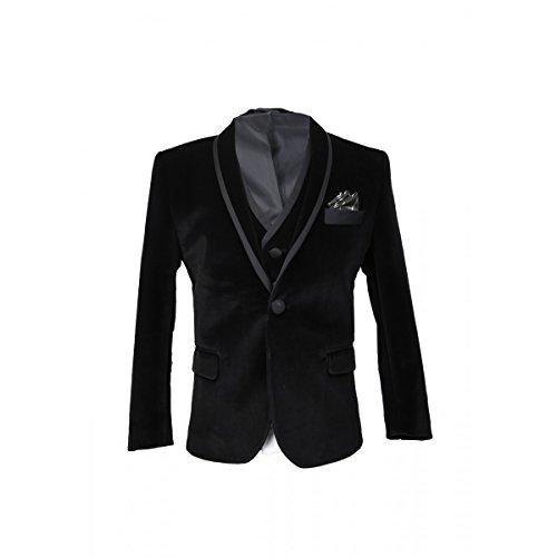 SIRRI Für Jungs Schwarze Hochzeits und Feier Samt Anzug 3 Teilig, 3 Jahre (3-teiliges Samt-anzug)