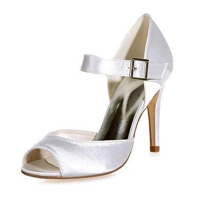 RTRY Scarpe Donna Satin Stiletto Heel Peep Toe Sandali Matrimoni/Parte &Amp; Sera Scarpe Matrimonio Più Colori Disponibili US6.5-7 / EU37 / UK4.5-5 / CN37