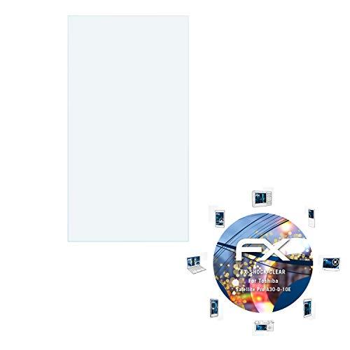atFolix Schutzfolie kompatibel mit Toshiba Satellite Pro A30-D-10E Panzerfolie, ultraklare und stoßdämpfende FX Folie (2X)
