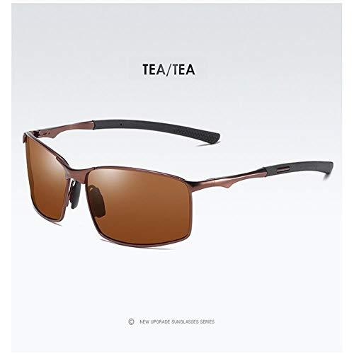 ZHOUYF Sonnenbrille Fahrerbrille Herren Polarized Sonnenbrille Für Sport, Outdoor Driving Sonnenbrille Herren, Metallrahmen Sonnenbrille, D