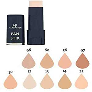 MAX FACTOR Pan Stick Face Foundation Make Up, Over 10 Different Cosmetic Shades Poducts To Choose From - (25 Fair, 1 PACK)