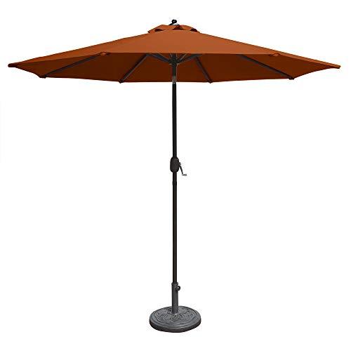 Island Umbrella N5422TC Mirage Octagonal Market Umbrella, 9', Terra Cotta Olefin - 9' Market Umbrella Base