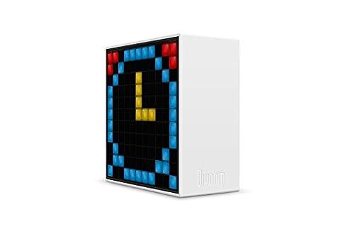 Divoom Timebox Blanc enceinte Bluetooth 5-watts Radio FM reveil et affichage Leds