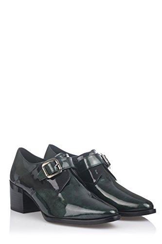 Laura Moretti Buckle Shoes, Chaussures Femme Vert/noir
