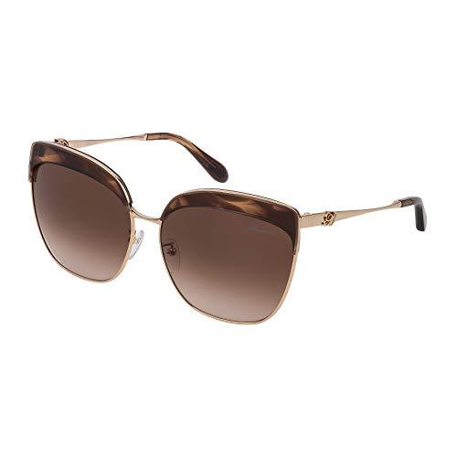 Blumarine occhiali da sole sbm135 06hn 63-15-135 donna marrone senape striato lucido lenti brown gradient