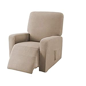 E EBETA Jacquard Sesselbezug, Sesselschoner, Stretchhusse für Relaxsessel Komplett, Elastisch Bezug für Fernsehsessel…