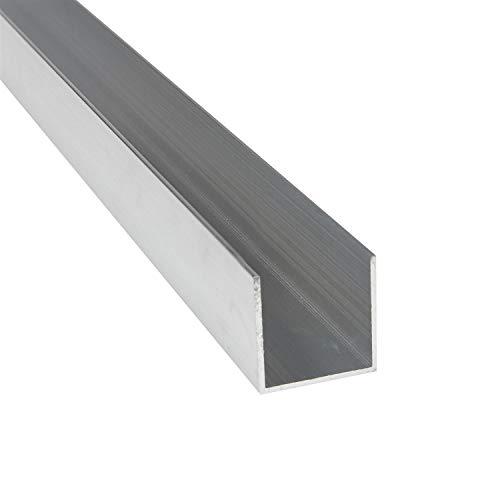 Aluprofil U-Profile 25 x 25 x 25 x 2 mm x 2.000 mm