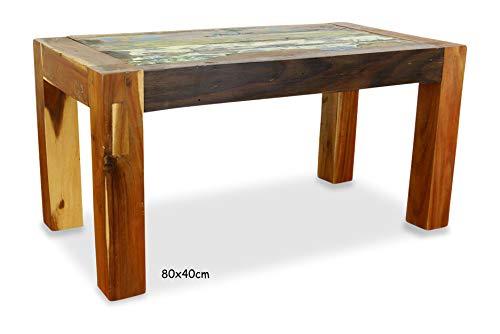 Java Couchtisch | Recyceltes buntes Bootsholz | Asiatischer Wohnzimmertisch | Designer Möbel aus Bootsholz | Massivholztisch der Marke Asia Wohnstudio | Kaffeetisch aus Bootsholz | Beistelltisch -