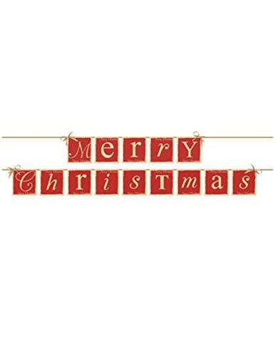 Girlande Merry Christmas Vintage, 2tlg. Gesamtlänge ca. 222 cm